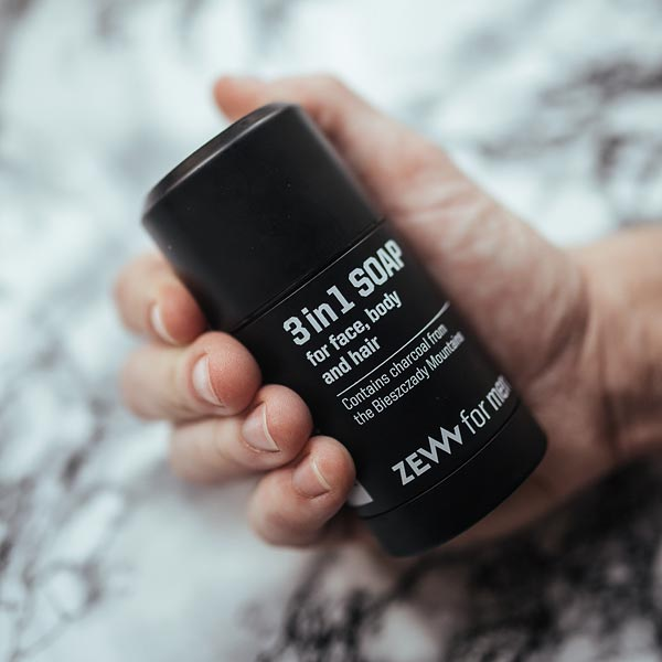 3in1 Soap - Seife mit Aktivkohle für Gesicht, Körper und Haar