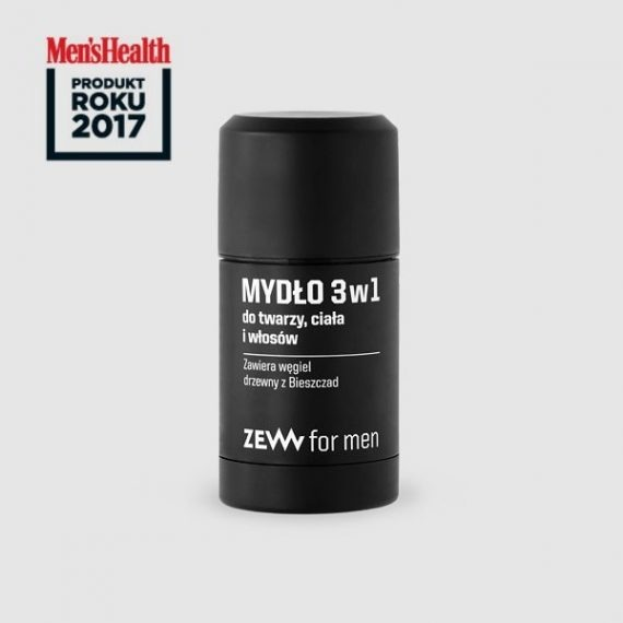 3in1 Soap with charcoal - Men's Health product of the year 2017